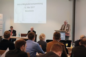 """<div class=""""bildtext_en"""">Richard Bayer, Chairman of the Executive Board, welcomed the members </div>"""
