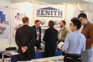 "<div class=""bildtext_en"">Zenith, the manufacturer of equipment for concrete products, attracted a large number of visitors on the first day of the event </div>"