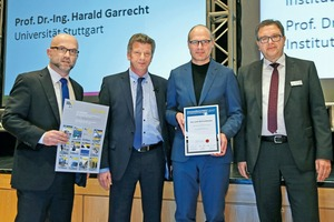In 2017, the Innovation Prize was awarded for a new method to produce forms from industrial wax. The award was presented to Prof. Dr.-Ing. Harald Kloft of Braunschweig University of Technology (second from right)