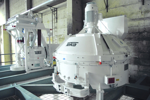 "<div class=""bildtext_en"">Modification with high-performance Teka turbine mixer THT 250 and THT 1125 für the production of face mix concrete and core concrete</div>"