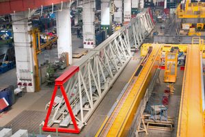 Production of the gantry crane and overhead crane in Köthen