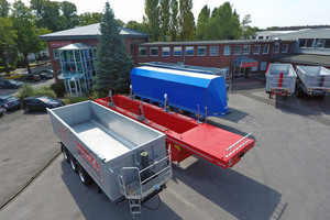 Langendorf trailers on the company's grounds in Waltrop, Germany