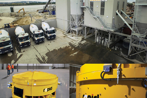 """<div class=""""bildtext_en"""">The Rapid pan is a high capacity concrete mixer ideally suited to the ready mix industry, offering large outputs from 0.5m<sup>3</sup> to 4m<sup>3</sup> </div>"""
