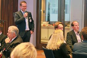 "<div class=""bildtext_en"">Florian Klostermann, Chairman of the SLG Executive Board, welcomed about 70 attendees to Favorite Parkhotel in Mainz</div><div class=""bildtext_en""></div>"