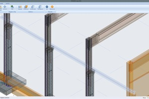 Overview model of precast elements with the data of shop drawings