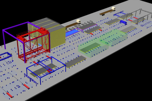 An add-on enables to design new precast concrete plants virtually or to simulate an optimization of existing facilities