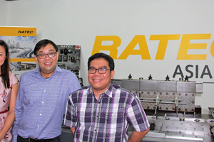 "<div class=""bildtext_en"">Ratec Asia from left to right: Katharina Feng, Assistant Commercial Manager, Raymond Chan, Director, Cesar C. Deguilmo, Technical Engineer, at the showroom in Singapore </div>"