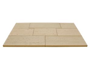 Modern travertine pattern in the sizes 900 x 450 mm; 600 x 450 mm and 450 x 450 mm