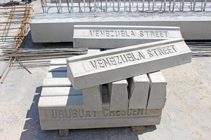 "<div class=""bildtext_en"">The extensive product range is completed by special components such as road curbstones as decorative concrete elements made to order of city administrations</div>"