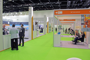 B.T. innovation and KTI Plersch (left), among other companies, presented themselves as part of the German participation; on the right, the booth of BFT International
