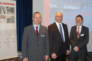 "<div class=""bildtext_en"">Dipl.-Ing. Ulrich Bauermeister, Prof. Dr.-Ing. Rainer Hohmann and Dr.-Ing. Johannes Furche (from left) gave lectures at the Filigran seminar series 2018</div>"
