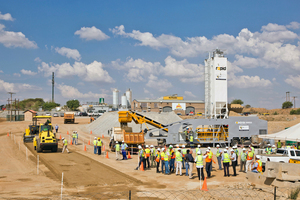 """<div class=""""bildtext_en"""">KwaMhlanga Group doubles roadwork production in South Africa with Rapidmix Mobile Continuous Concrete Mixing Plant</div>"""