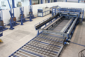 """<div class=""""bildtext_en"""">The PL XY mesh welding line with the rotor straightening and cutting machine MELC Flexi</div>"""