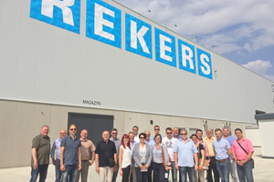 This year's study trip went to Poland, here to the Rekers facility near Gliwice, ...