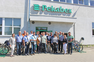 """<div class=""""bildtext_en"""">Pekabex President Christophe Carion (third from the right) welcomed participants in the """"Concrete Study Visit"""" from Germany, …</div>"""