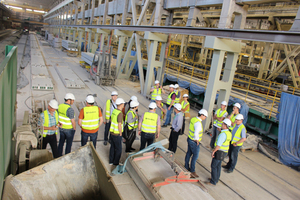 """<div class=""""bildtext_en"""">… who got a comprehensive guided tour of the Pekabex precast production facility in Pozna<strong>ń</strong></div>"""
