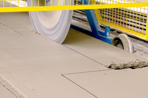 With the fresh concrete saw hollow core slab can be processed directly after the finishing process without any problems