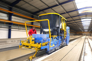 The Echo slip former is the core of the new production system. The S-Liner slip former is the ideal solution for versatile, flexible production requirements