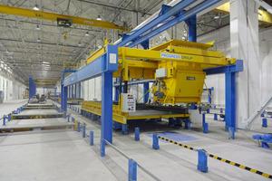 """<div class=""""bildtext"""">Erel verfügt in der von EBAWE Anlagentechnik gelieferten Palettenumlaufanlage über insgesamt 41 Paletten </div>"""