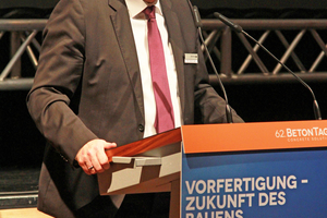"<div class=""bildtext_en"">Dr. Ulrich Lotz, Managing Director of FBF Betondienst, will moderate the BetonTage in Neu-Ulm</div>"