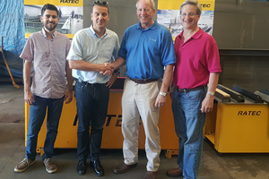 Left to right: Tim Reymann, Commercial Assistant, Joerg Reymann, Managing Partner of Ratec LLC, Dan Faulkner, Managing Partner IWI Group, and Richard Isaacson, Principal IWI Group