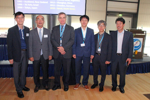 """<div class=""""bildtext_en"""">David R. Smith, Technical Director of the Interlocking Concrete Pavement Institute (ICPI) and SEPT CEO, with the delegation from Seoul who will organize the ICCBP 2018 in the South Korean capital </div>"""