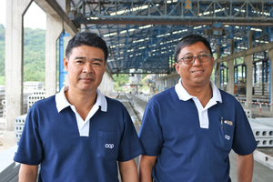 "<div class=""bildtext_en"">Mr. Chayakorn Srinual, Plant Manager and Mr. Nora Saengsa-ngasri, Assistant Vice President of Production supervised the installation of the new machine </div>"