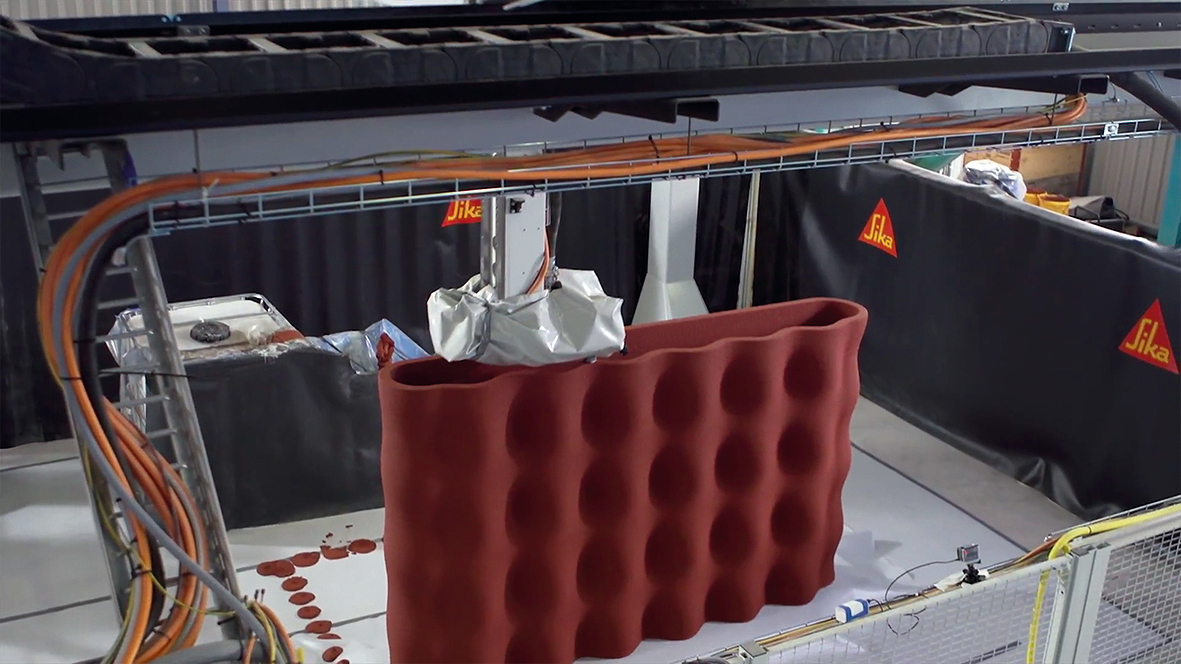 Flexible shapes for concrete structures possible thanks to 3D