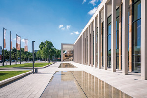 """The """"Modell rmcc Wiesbaden"""" signature pavement perfectly matches the façade"""