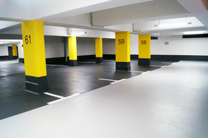 "<div class=""bildtext_en"">The coloring provides for more brightness and better orientation in the underground parking lot </div>"