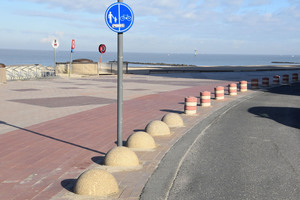 The iron oxide pigments from Cathay Industries have excellent weathering as well as light fastness properties and therefore withstand the coastal climate along the dyke from Zeebrugge to Knokke