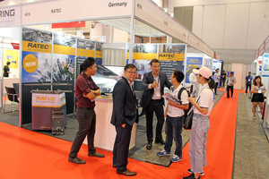 In particular, on the second and third day of the event many booths were very well attended, like the one of Ratec here, ...