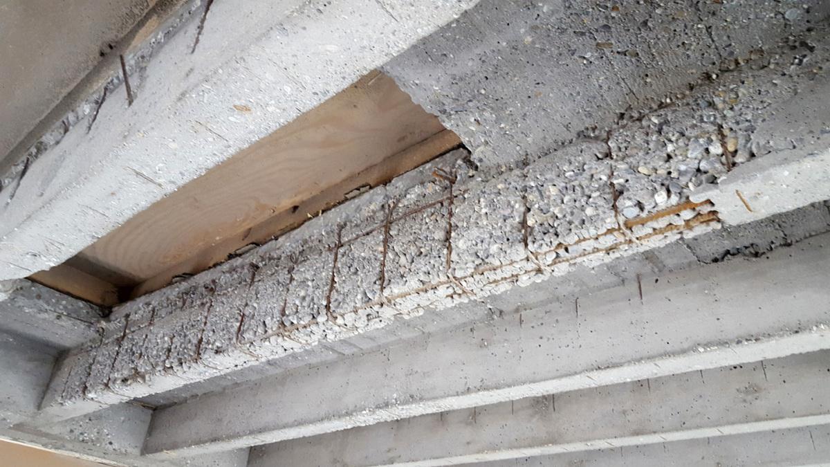Ribbed Floor Slab Repair With Mortar