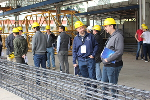 The international precast experts were also given an opportunity to gain insight into the highly professional reinforcement production at MC Prefabbricati