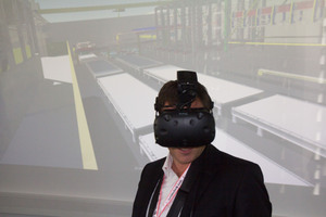 Virtual reality googles made possible a tour of a cutting-edge precast plant