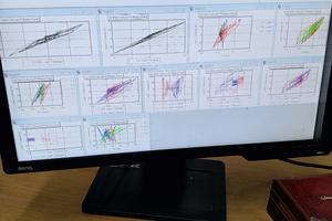 The test simulates three earthquake magnitudes