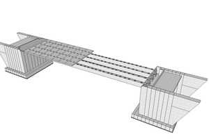 "<div class=""bildtext_en"">Fig.: Model of a proposed prestressed single-span modular frame bridge constructed from precast concrete elements</div>"