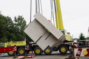 Turning of the upper abutment of the so-called modular bridge