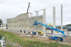 Installation of the noise barrier