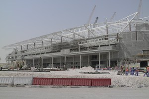 Almost all sports facilities for the 2022 World Cup consist of a mixed construction composed of in-situ concrete and precast concrete elements, what also applies to the Al Rayyan Stadium