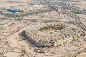 The Al Rayyan Stadium to host 40,000 spectators is erected for the 2022 FIFA World Cup