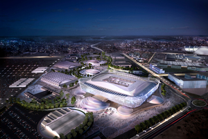 Animation of the completed Al Rayyan Stadium for the 2022 FIFA World Cup