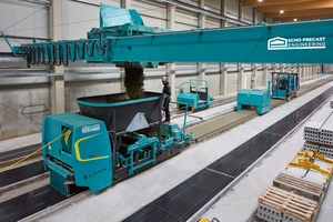 "<div class=""bildtext_en"">Larco is producing pre-stressed precast concrete elements on four production lines. Heart of the production is the Slipformer S-Liner from Echo <br />Precast Engineering </div>"