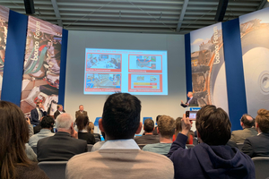 "<div class=""bildtext_en"">At the bauma forum, visitors awaited lectures and podium discussions</div>"