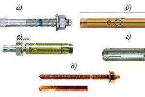 "<div class=""bildtext_en"">Some types of plastic rawlplugs (anchors); façade anchors by a), b) – Fischer; c) – Tox; d) – Hilti; e) – Sormat; f) – Alfa</div>"