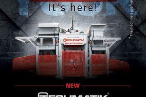 """<div class=""""bildtext"""">Techmatik S.A. stellte die neue Betonsteinfertigungsmaschine SHP 6000 Pro Co auf der diesjährigen bauma vor </div>"""