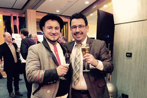 "<div class=""bildtext_en"">At the ""Fairbinden"" evening event during the Ulm BetonTage congress, Ralf Keßler (left) met BFT Editor-in-Chief Silvio Schade to provide interesting insights into his journeyman's travel experience</div>"