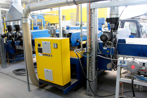 """<div class=""""bildtext_en"""">The coating plant supplied by Bürkle in operation at KANN</div>"""