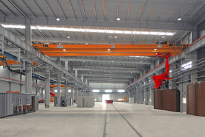 """<div class=""""bildtext_en"""">Production facility overview with Casting Machines</div>"""