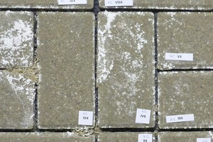 "<div class=""bildtext_en"">Concrete block pavers from large-scale production with damaged facing concrete (sandy decomposition on corners and edges)</div>"